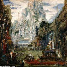 Le triomphe d'Alexandre le grand, par Gustave MOREAU,  fin du XIX° siècle, musée…