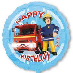 Folienballon-Feuerwehrmann-Sam-Happy-Birthday-Dekoration-Kindergeburtstag-Geschenk
