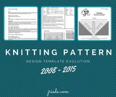 Creating knitting patterns is easy, creating good knitting patterns is not: a wisely chosen knitting pattern design template can make all the difference. Knitting Blogs, Knitting Patterns, Evolution, Pattern Design, Knit Crochet, Crafty, Design Templates, Tools, School