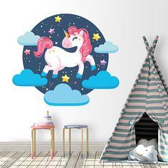 Un vinilo perfecto para los fans de los unicornios.  Decora cualquier pared con este diseño tan llamativo.