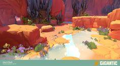 Mais artes do game Gigantic, do estúdio Motiga Environment Painting, Desert Environment, Environment Concept Art, Environment Design, Game Environment, Android Jones, Anna Cattish, Cartoon Background, Dibujo