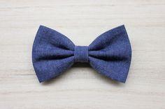 Ties – Bow tie blue jeans for men and boys,denim style – a unique product by ScoccaPapillon via en.DaWanda.com