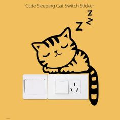 SHARE & Get it FREE | Sleeping Cat Pattern Wall Switch Art Sticker Creative Home DecorationFor Fashion Lovers only:80,000+ Items·FREE SHIPPING Join Dresslily: Get YOUR $50 NOW!