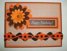 Vibrant Orange Happy Birthday Card