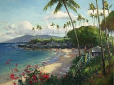 Kapalua Beach & Shack, Maui by Ronaldo Macedo of Lahaina Galleries. for info or availability call 808.661.MAUI or visit: www.lahainagalleries.com