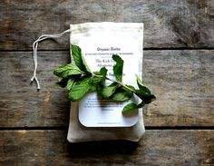 Organic Dried Herb Sachet, harvested on our Upstate New York farmstead, catnip, mint, hops, parsley on Etsy, $6.00