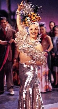 'That Night In Rio' (1941) with Carmen Miranda. Costume Designer: Travis Banton