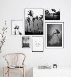 Gallery wall black and white photo art - Wall art with beautiful posters and art prints - Find inspiration for your personal wall art with posters & art prints from Posterstore.se Spice up your living room or bedroom.
