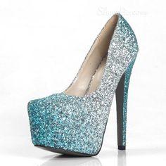 Sequin Gradient Platform Stiletto Heel Pumps From The Plus Size Fashion Community At www.VintageAndCandy.com