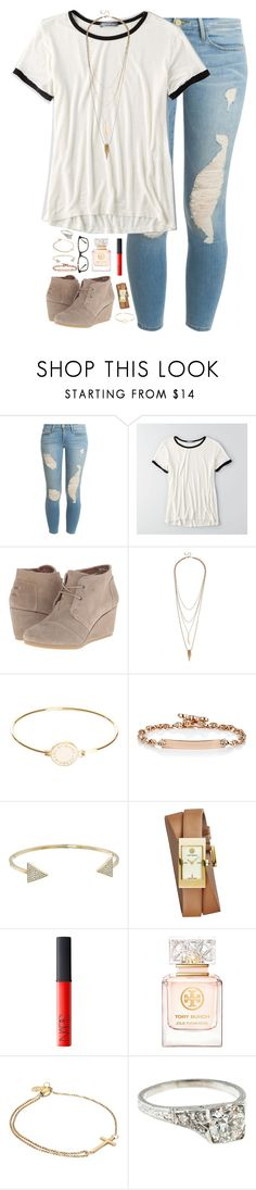 """""""follow me on Instagram// @kaley.irvin"""" by kaley-ii ❤ liked on Polyvore featuring Frame Denim, American Eagle Outfitters, TOMS, Lulu*s, Marc by Marc Jacobs, Hoorsenbuhs, Michael Kors, Tory Burch, NARS Cosmetics and Alex and Ani"""
