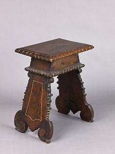 Sgabello style Stool,    Date:      late 15th–early 16th century  Classification:      Woodwork-Furniture  Credit Line:      Robert Lehman Collection, 1975  Accession Number:      1975.1.2003
