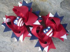 Cute 4th of July Hair Bow.....Stefanie's Bownanza (look her up on FB)