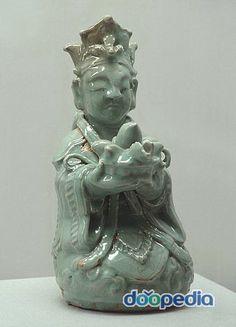 청자인형주자 국립중앙박물관. 국보 제167호. 고려시대. Porcelain doll runners  National Museum. National Treasure No. 167. Goryeo.