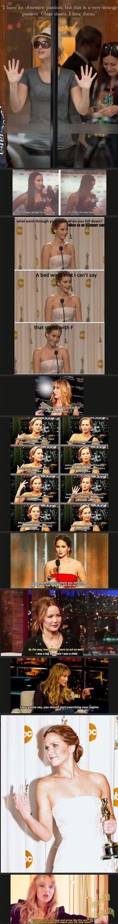 Hahaha, OMG look at this Oh Jennifer Lawrence�?�