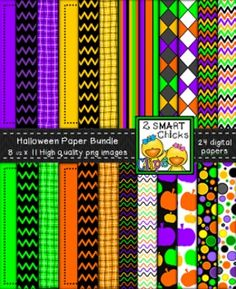 Make your products look spooktacular with our Halloween background paper bundle! 24 colourful, as well as, vibrant PNG file backgrounds are included in this set! Once purchased, backgrounds can be used for personal or commercial purposes. Kindly remember to include a link back to our TPT store: http://www.teacherspayteachers.com/Store/2-Smart-Chicks Happy creating!