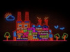 Neon factory illustration and animation for web page Header/Menu, Art Direction by @George Bokhua, thanks @Giorgi Popiashvili for helping with neons :)  dont for get to check @2x for better view, i...