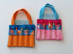 Bubble Guppy Ribbon Children's Crayon Bag by JustSomethingSpecial