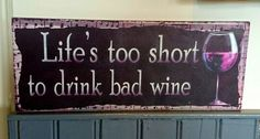 A Life Is Short, Signage, Lifestyle, Drinks, Home Decor, Drinking, Beverages, Decoration Home, Room Decor