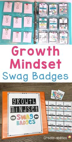 Growth Mindset Swag Badges - Recognize and reward your upper elementary and grade students. You get 55 different swag badges for your class Classroom Incentives, Classroom Jobs, 4th Grade Classroom, Classroom Organization, Science Classroom, Growth Mindset Activities, Growth Mindset Posters, Behavior Management, Classroom Management