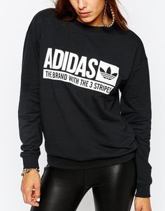 Image 3 ofadidas Originals Crew Neck Sweatshirt With Box Logo
