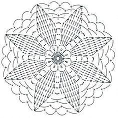 esquema de tricô motivo 10