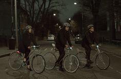 ボルボ、自転車通勤者のための「光るスプレー」を発表