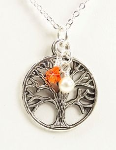 Multiple Sclerosis Necklace Silver Tree of by PixieDustFineriesToo