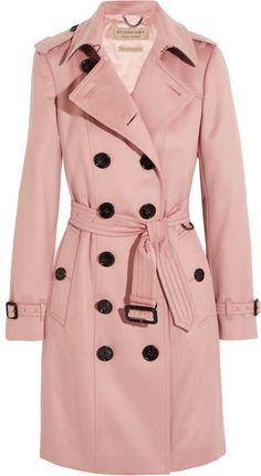 Burberry - The Sandringham Cashmere Trench Coat - Blush
