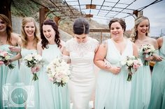 Bride and bridesmaid pictures at The Standard in downtown Knoxville by Amanda May Photos