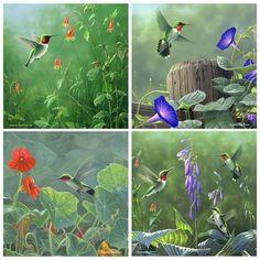 Hummingbirds Coaster Set