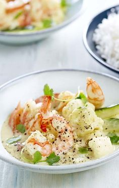 Curry Van Gambas Met Bloemkool En Courgette Colruyt Culinair