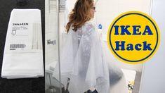 Frisierumhang aus IKEA Duschvohang für 2 € nähen | DIY | Anfänger
