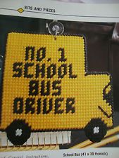 FOR THE SCHOOL BUS DRIVER  **PLASTIC CANVAS PATTERN ONLY**(3)