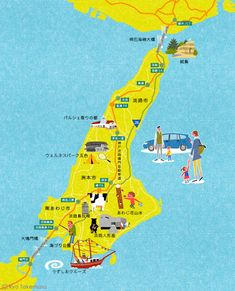 Illustrated map for GAZOO magazine,  a magazine for public relations of Toyota…