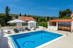 House in Mlini, Croatia. Beautiful villa with private pool 36 square meters just for you. Outdoor kitchen with barbecue and all necessary appliances is a place where you will spend the most of your time. On the covered terrace there is a pool billiars table intended for t...