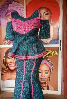 African clothing : Simple Ankara Skirt and Blouse Styles .African clothing : Simple Ankara Skirt and Blouse Styles African Fashion Ankara, Latest African Fashion Dresses, African Dresses For Women, African Print Dresses, African Print Fashion, African Attire, African Wear, African Women, Ghanaian Fashion