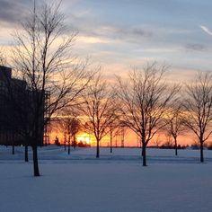 A winter sunset captured on campus #gvsu #puremichigan