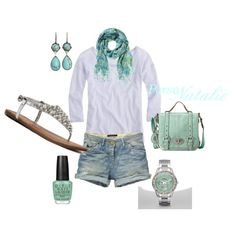 Baby Blue, created by natalie-buscemi-hindman on Polyvore