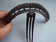 THE TIARA SIZE IS 18 cm END TO END AND 2.5 cm HIGH. THE NATURAL HORN CUMB IS 11 cm Long. THE CONDITION IS VERY GOOD. | eBay!