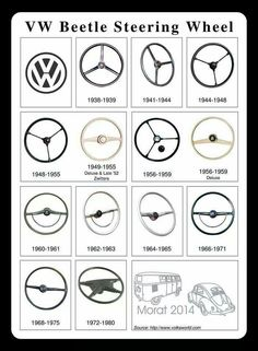 VW Beetle steering wheels