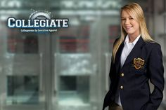 Blazers for Collegiate students unifrms, clubs, teams, groups and promos. Branding with embroidery and sewn-on patches. School Uniform Fashion, Sew On Patches, Apparel Brands, Blazers, Branding, Stylish, Students, Embroidery, Brand Management