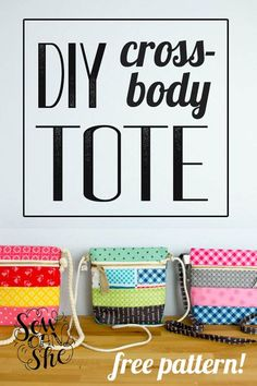 Sew up a Cross Body Zipper Tote! {free pattern!} — SewCanShe   Free Daily Sewing Tutorials