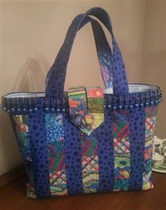 oversized tote with bead embellishment - Quilters Club of America