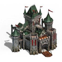 Fantasy Town, Fantasy Castle, Fantasy House, Fantasy Map, Fantasy Artwork, Buildings Artwork, Building Map, Minecraft Castle, Minecraft Blueprints