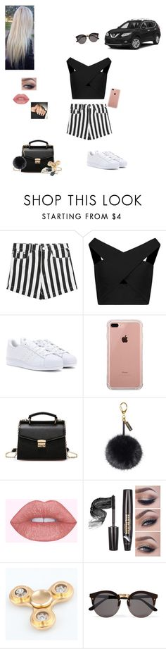 """""""BBQ at my house!💕"""" by sabellacunningham ❤ liked on Polyvore featuring Michelle Mason, adidas, Belkin, Helen Moore and Illesteva"""