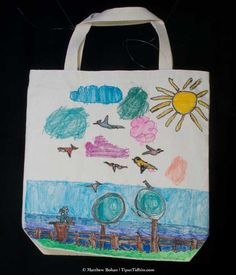 How to Personalize a Canvas Tote Bag | Canvas tote bags, Craft and ...