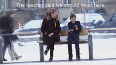 Ayudarías a un niño de 11 años con frío? Experimento social