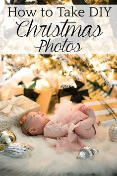 How to Take DIY Christmas Photos Around Your Tree | A step-by-step tutorial for taking Christmas pictures of your family by yourself that lookdreamy and professional. #christmasphotos #christmasportraits #christmaspictures #diyphotography #christmasphotography #howtotakephotos #christmaslights #takepicturesofchristmaslights