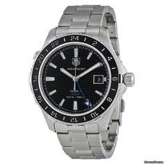 TAG Heuer Aquaracer 500M ad: $1,995 TAG Heuer Aquaracer GMT Automatic Black Dial…