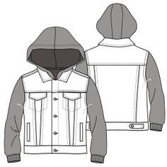 Escoge entre una gran variedad de moldes de ropa y patrones ropa bebes Chaqueta Jean 7058 DAMA Camperas
